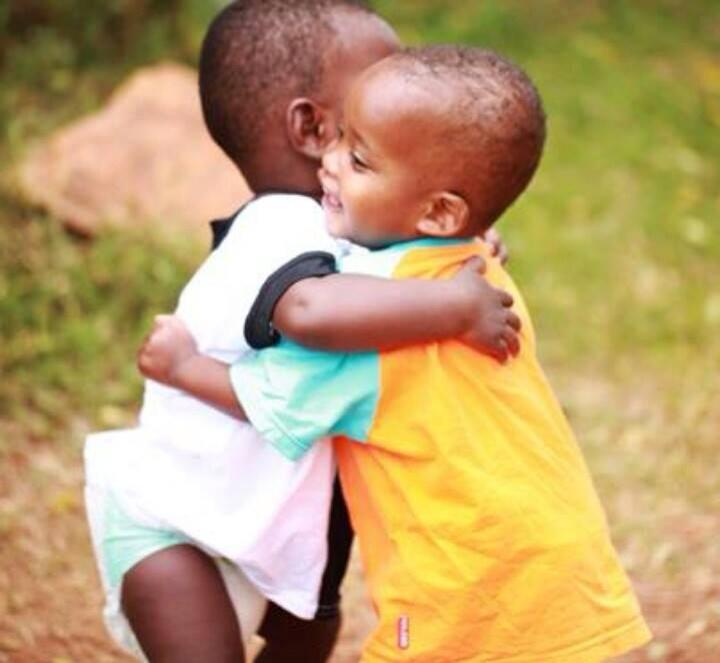 Here's a hug, to tug at your heartstrings, affirming that love underscores all positive relationships.